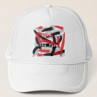 Love. Like fire. Trucker Hat