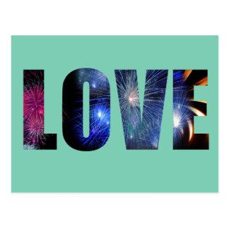 Love Like Fireworks Design Postcard