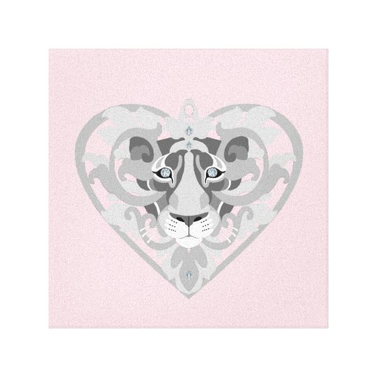 Love Lioness Locket canvas print