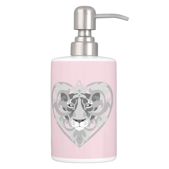 Love Lioness Locket(icy pink)toothbrush-lotion dis Soap Dispenser And Toothbrush Holder