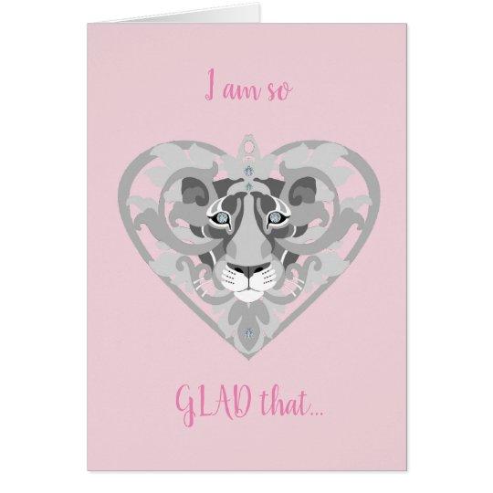 Love Lioness Locket (icy pink) Valentine's card