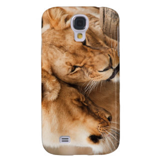 Love Lions cuddling animals wildlife Galaxy S4 Case