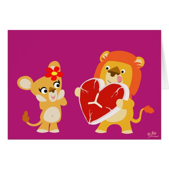 Love Lions greeting card