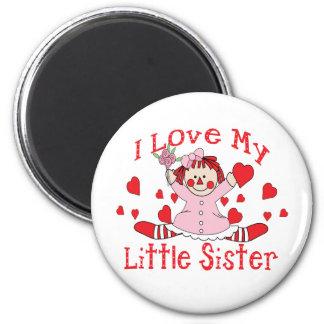 Love little Sister 6 Cm Round Magnet