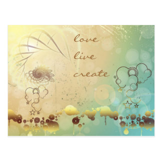 Love, Live, Create Postcard
