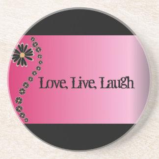 Love, Live, Laugh Coaster