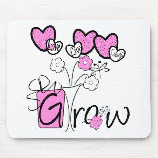 Love Live Laugh Grow Mouse Pad