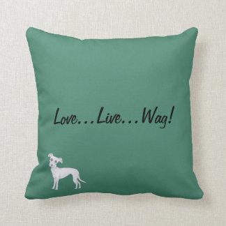 Love...Live...Wag! Cushion