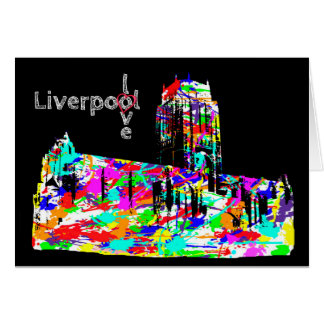 Love Liverpool - Anglican cathedral Greeting Card