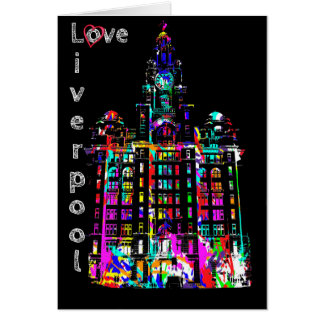 Love Liverpool - Liver Building Greeting Card