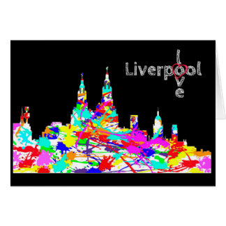 Love Liverpool - Liverpool Skyline Greeting Card