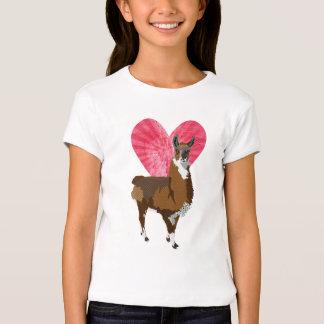 Love Llama Heart T-shirt