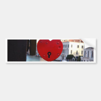 love lock in venice bumper sticker