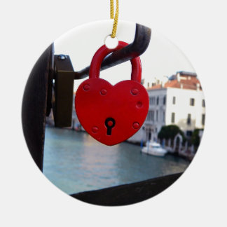 love lock in venice christmas ornament