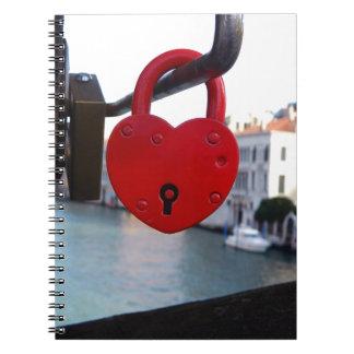love lock in venice notebooks