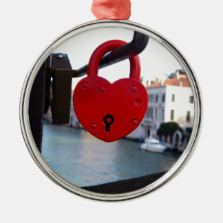 love lock in venice Silver-Colored round decoration