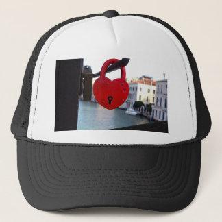 love lock in venice trucker hat