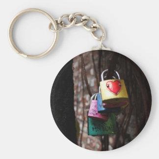 Love Locked Basic Round Button Key Ring