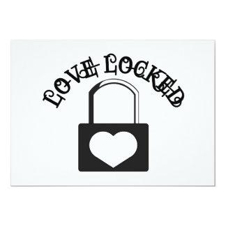 Love Locked 5x7 Paper Invitation Card