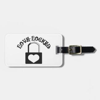 Love Locked Luggage Tag