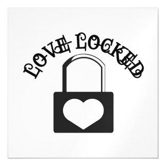 Love Locked Magnetic Invitations
