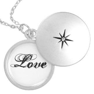 """Love"" Locket Necklace"