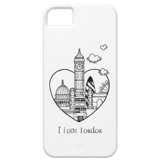 Love London Doodle Barely There iPhone 5 Case