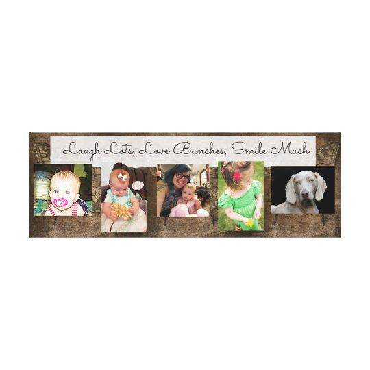 Love Lots, Textology Photo Collage Wrapped Canvas