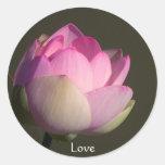 Love Lotus Round Stickers