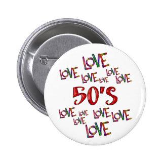 Love Love 50s 6 Cm Round Badge