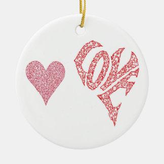 LOVE LOVE CHRISTMAS ORNAMENT