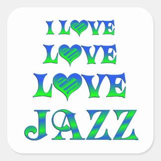 Love Love Jazz Square Stickers