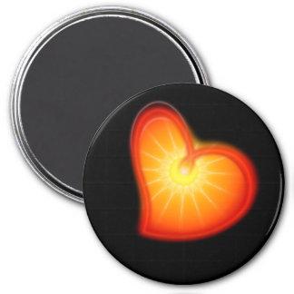 LOVE LOVE LOVE 7.5 CM ROUND MAGNET