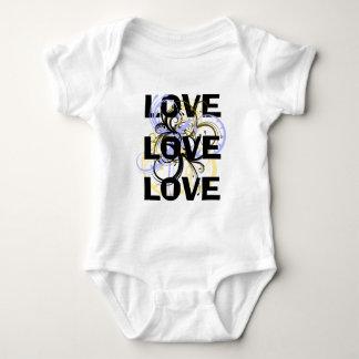 Love Love Love Baby Bodysuit