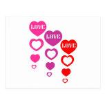 Love, Love, Love Postcard