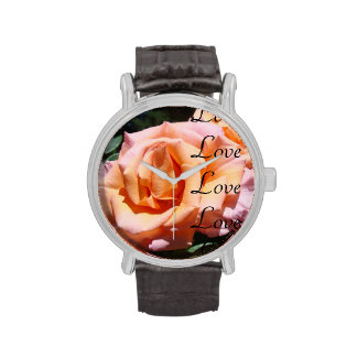 Love Love Love Rose Flower Watches gifts