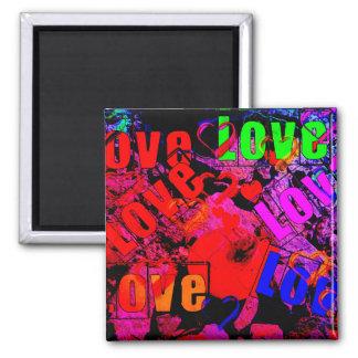 Love Love Love Square Magnet