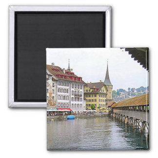 Love Lucerne Square Magnet
