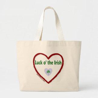 Love Luck o' the Irish Jumbo Tote Bag