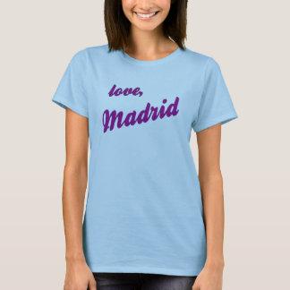 Love, Madrid - blue strappy T-Shirt