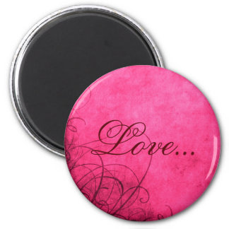 Love- Magnet: Love's Twilight Collection 6 Cm Round Magnet