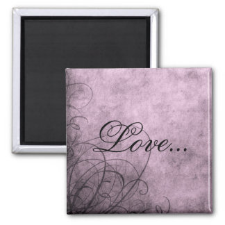 Love- Magnet: Love's Twilight Square Magnet