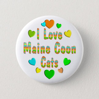 Love Maine Coon Cats 6 Cm Round Badge