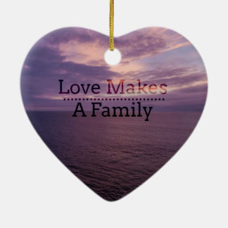 Love Makes a Family Adoption - Foster Care Christmas Ornament