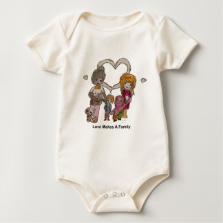 Love Makes a Family by Ainsley Baby Bodysuit