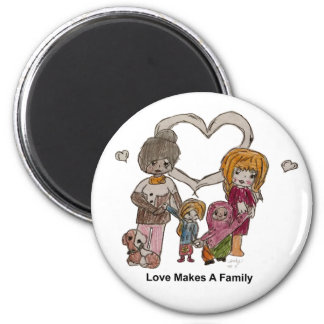 Love Makes a Family by Ainsley--Magnet Magnet
