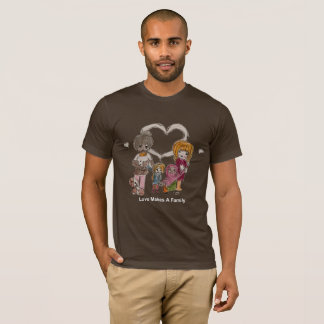 Love Makes a Family by Ainsley-Men's Brown T-Shirt