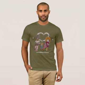 Love Makes a Family by Ainsley-Men's Olive T-Shirt