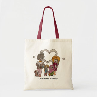 Love Makes a Family by Ainsley--Tote Tote Bag