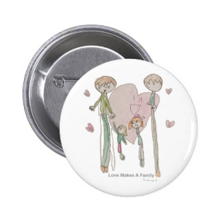 Love Makes a Family by Annika--Button 6 Cm Round Badge